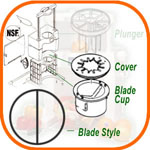 Blade Cup with cover (single)